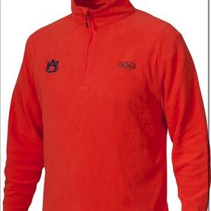 Drake Waterfowl Auburn Orange Fleece Quarter Zip